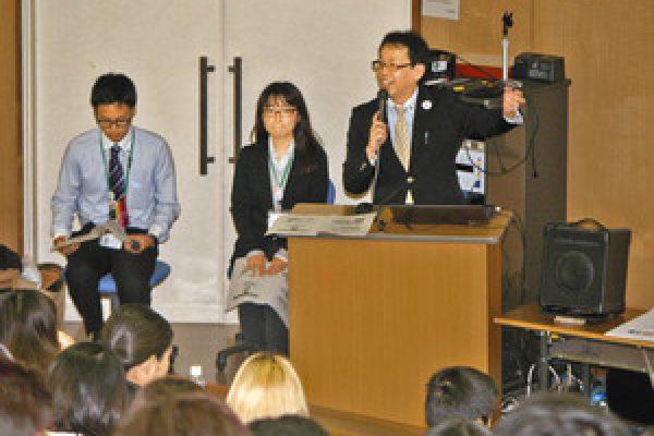 空港の街 職員が「観光」語る 茨城大キャンパスで講師に小美玉市職員